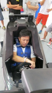 Kosuke Matsura driving our simulator
