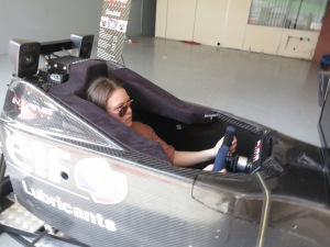 Natasha Seater in the drivers seat